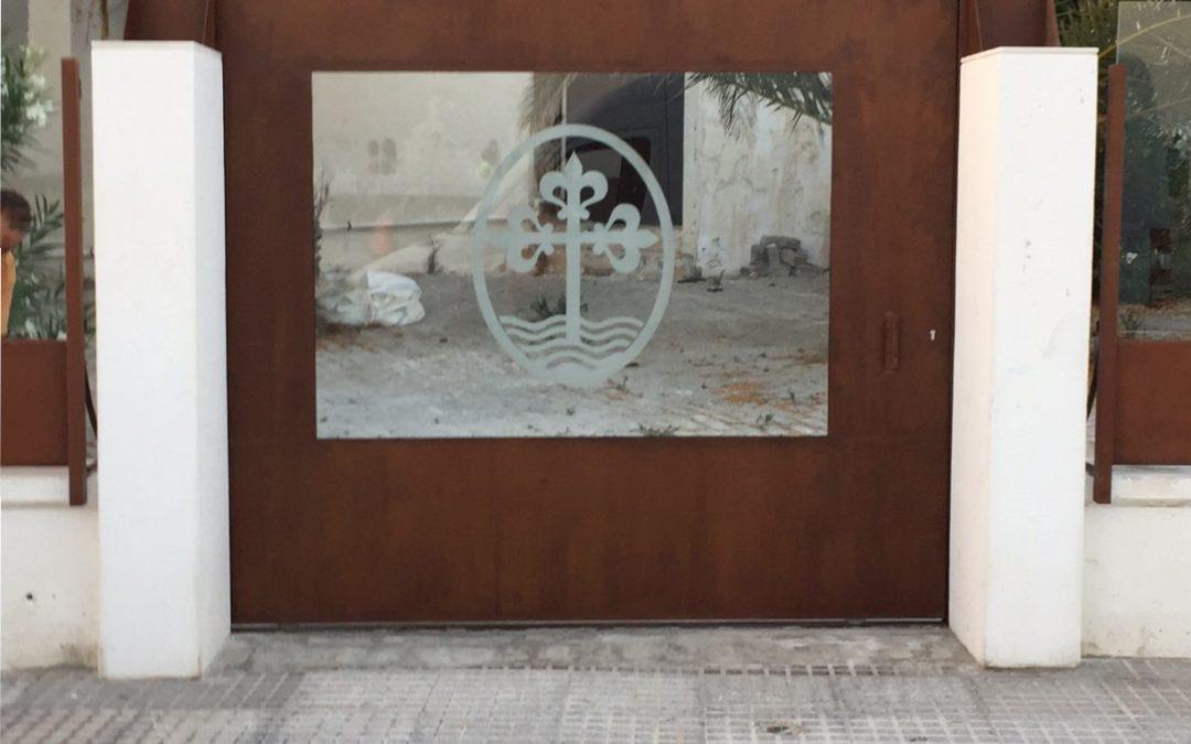 Cerramiento en acero corten de la Catedral de Cádiz